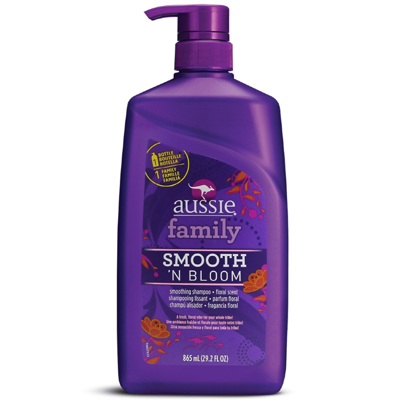 Shampoo Aussie Family Smooth 'N Bloom 865ml