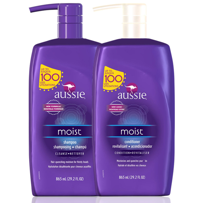 Kit Aussie Moist Shampoo e Condicionador 865ml