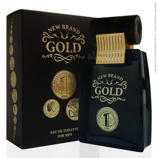 Perfume New Brand Gold Eau De Toilette Masculino 100ml